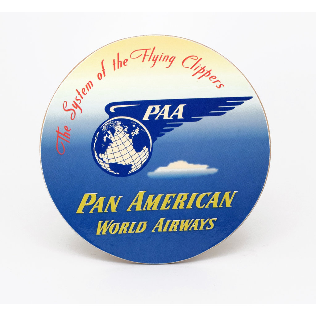 Pan Am Vintage Baggage Sticker Coaster