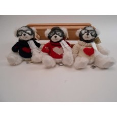 "Hap Bear 7"" White with Red Sweater"