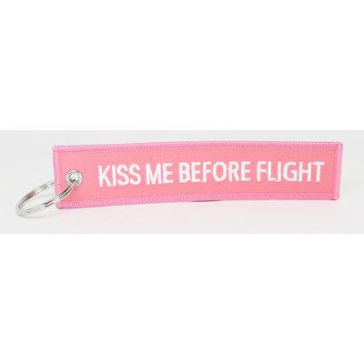 Kiss Me Before Flight Key Chain