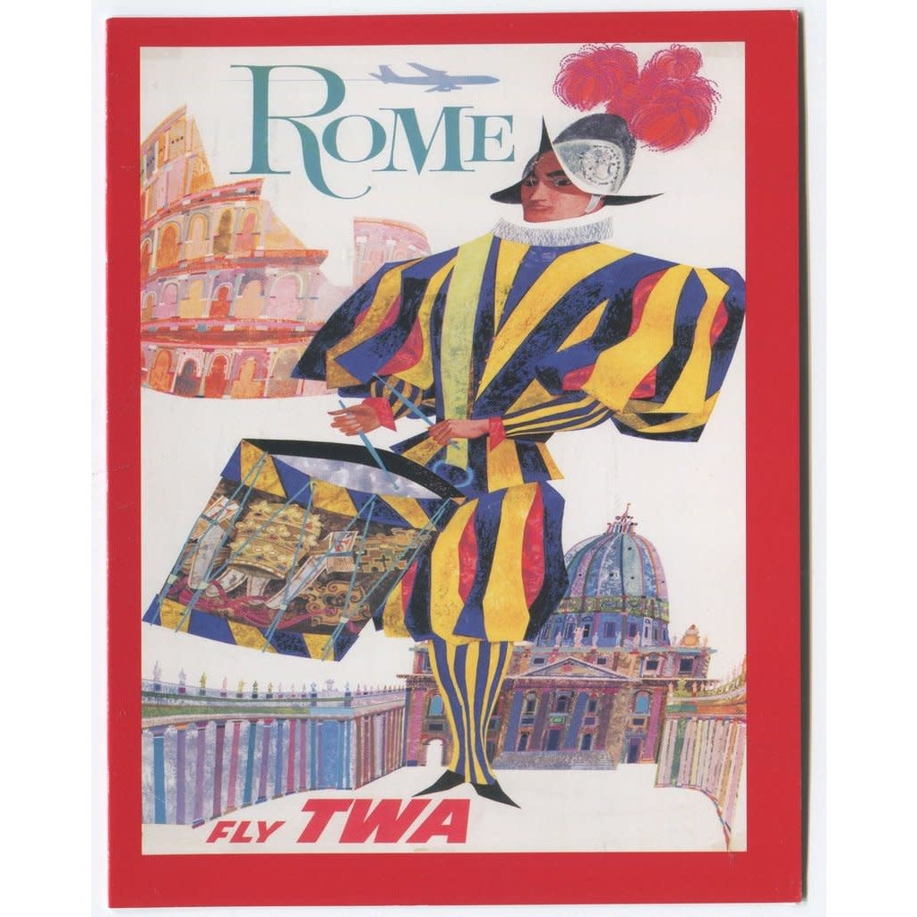 TWA Rome Travel Poster Note Cards - Pack of 12