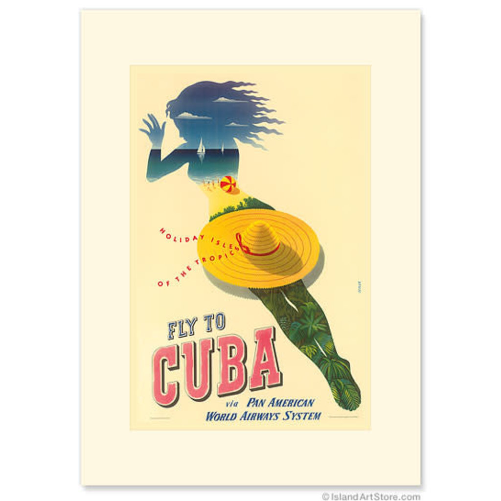 Pan Am Fly to Cuba - Holiday Isles of the Tropic Greeting Card
