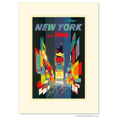Fly TWA New York - Times Square Greeting Card