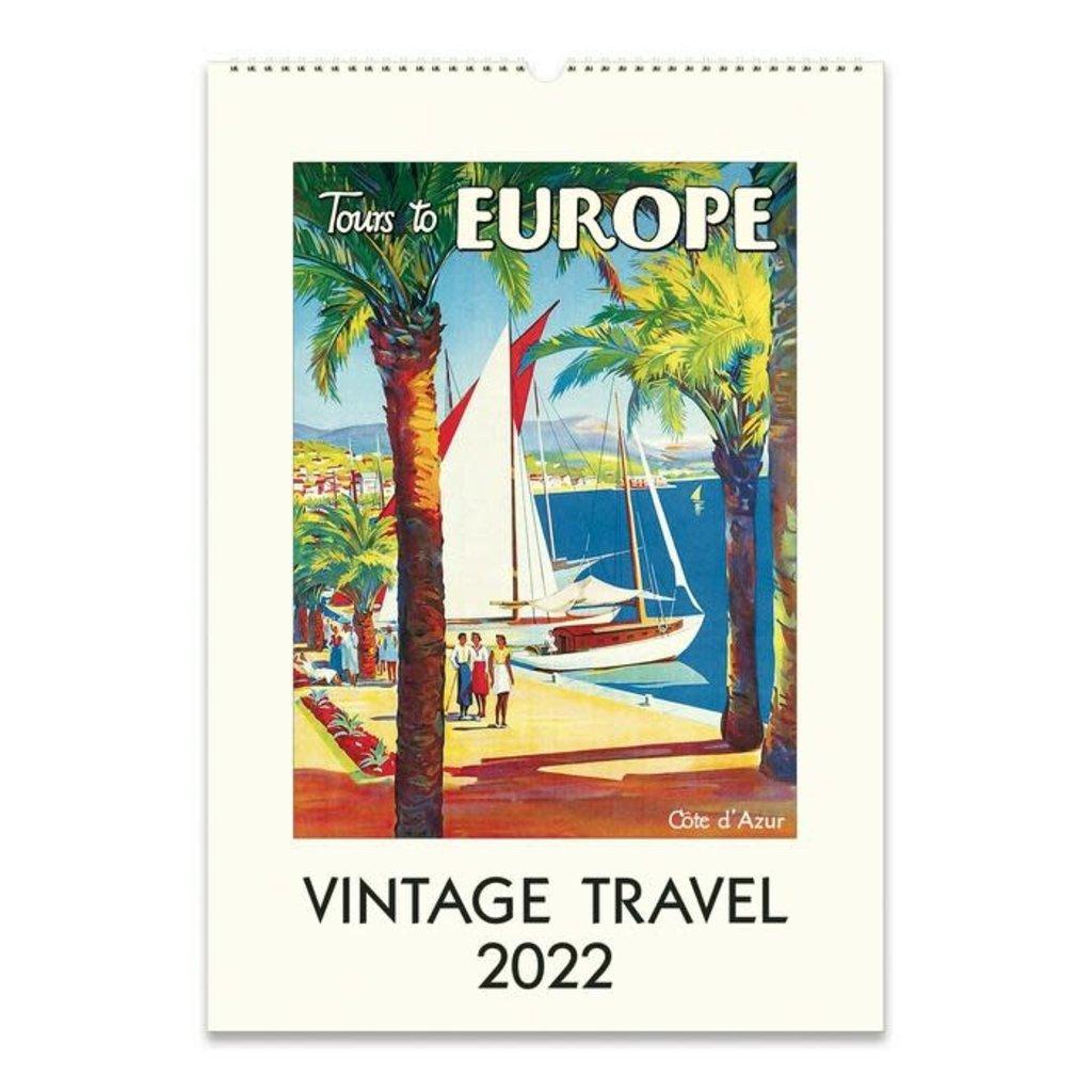 Vintage Travel Wall Calendar 2022