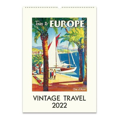Vintage Travel Wall Calendar 2022