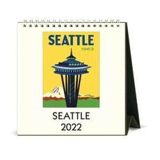 Vintage Seattle Desk Calendar 2022