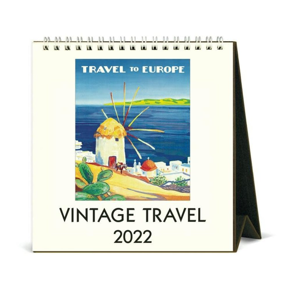 Vintage Travel Desk Calendar 2022
