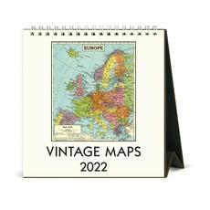 Vintage Maps Desk Calendar 2022