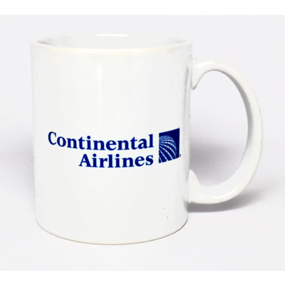 Continental Airlines 1991 Logo Mug