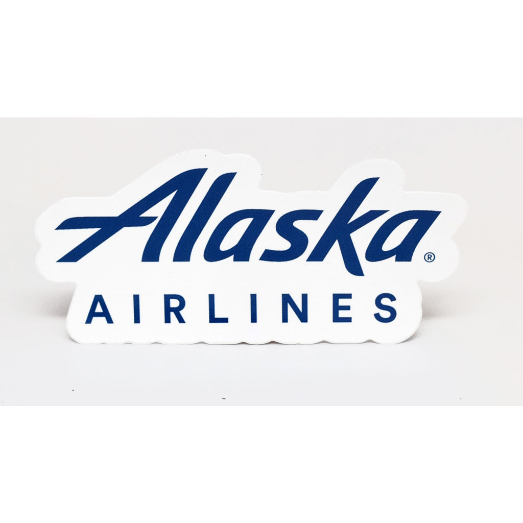 AA Alaska Airlines Die-cut Logo Sticker