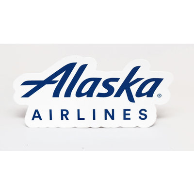 AA Alaska Airlines Die-cut Logo Sticker