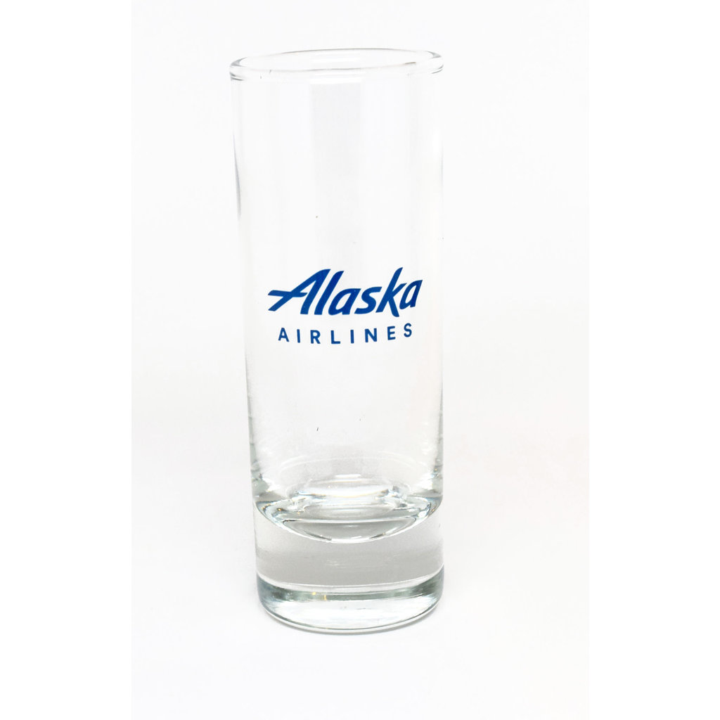 AA Alaska Airlines Shot Glass