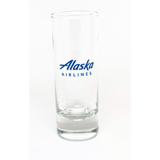 AA Alaska Airlines Shot Glass