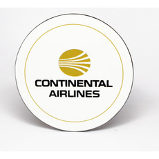 Continental Airlines 1970's Logo Round Coaster