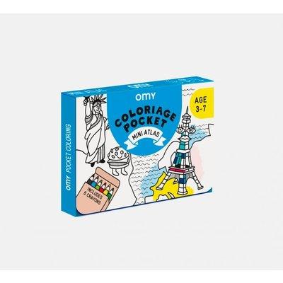 OMY  Pocket Coloring set - ATLAS