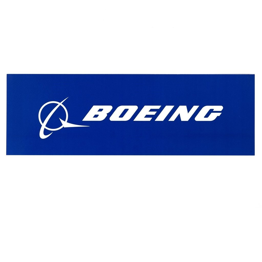 Boeing signature sticker