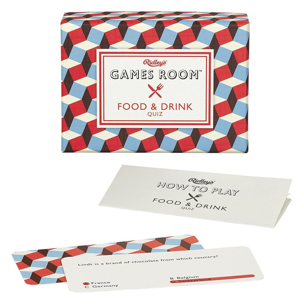 Games Room Food and Drink Trivia