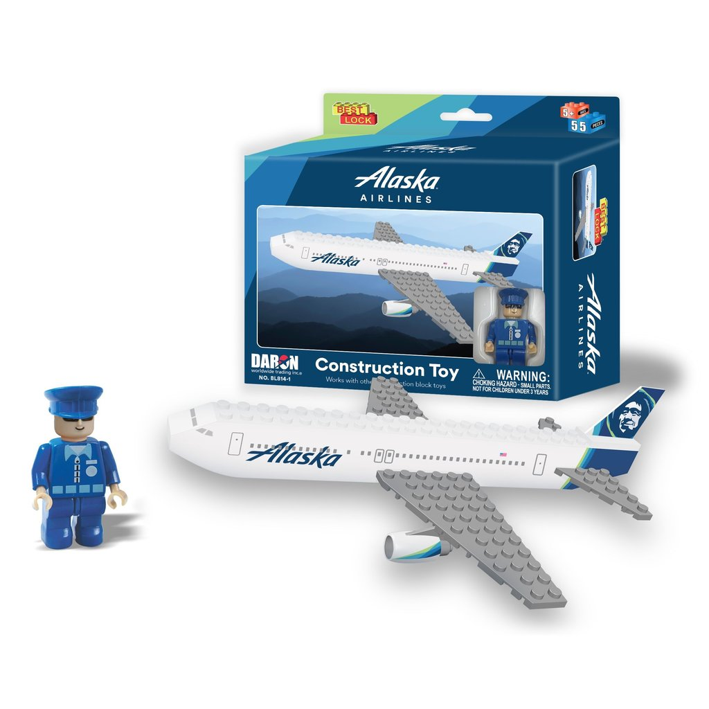 Alaska Airlines 55 pc Construction Toy