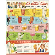 Cocktails  Vintage Puzzle 1,000 Piece