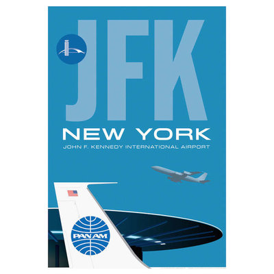 JAA JFK Worldport Airport Poster 14 X 20