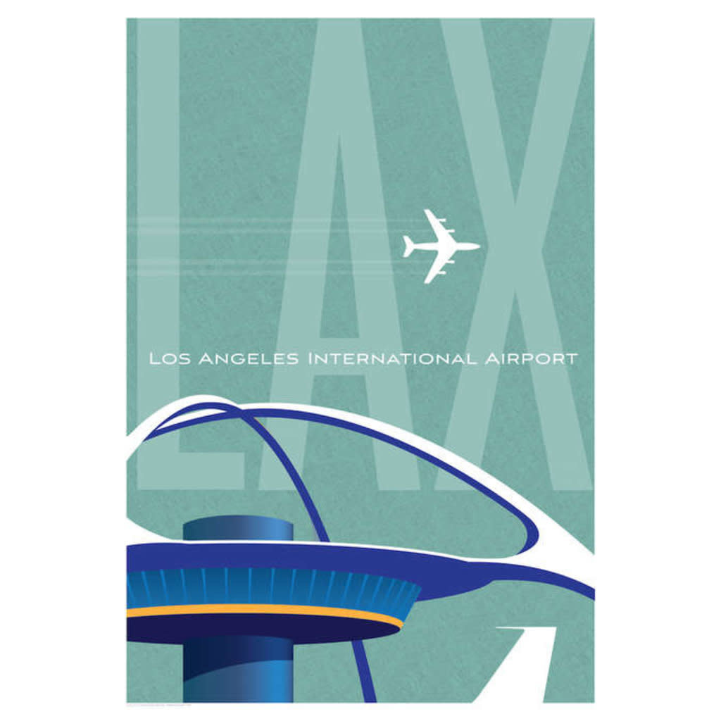 JAA Lax Los Angeles Airport Poster 14 X 20