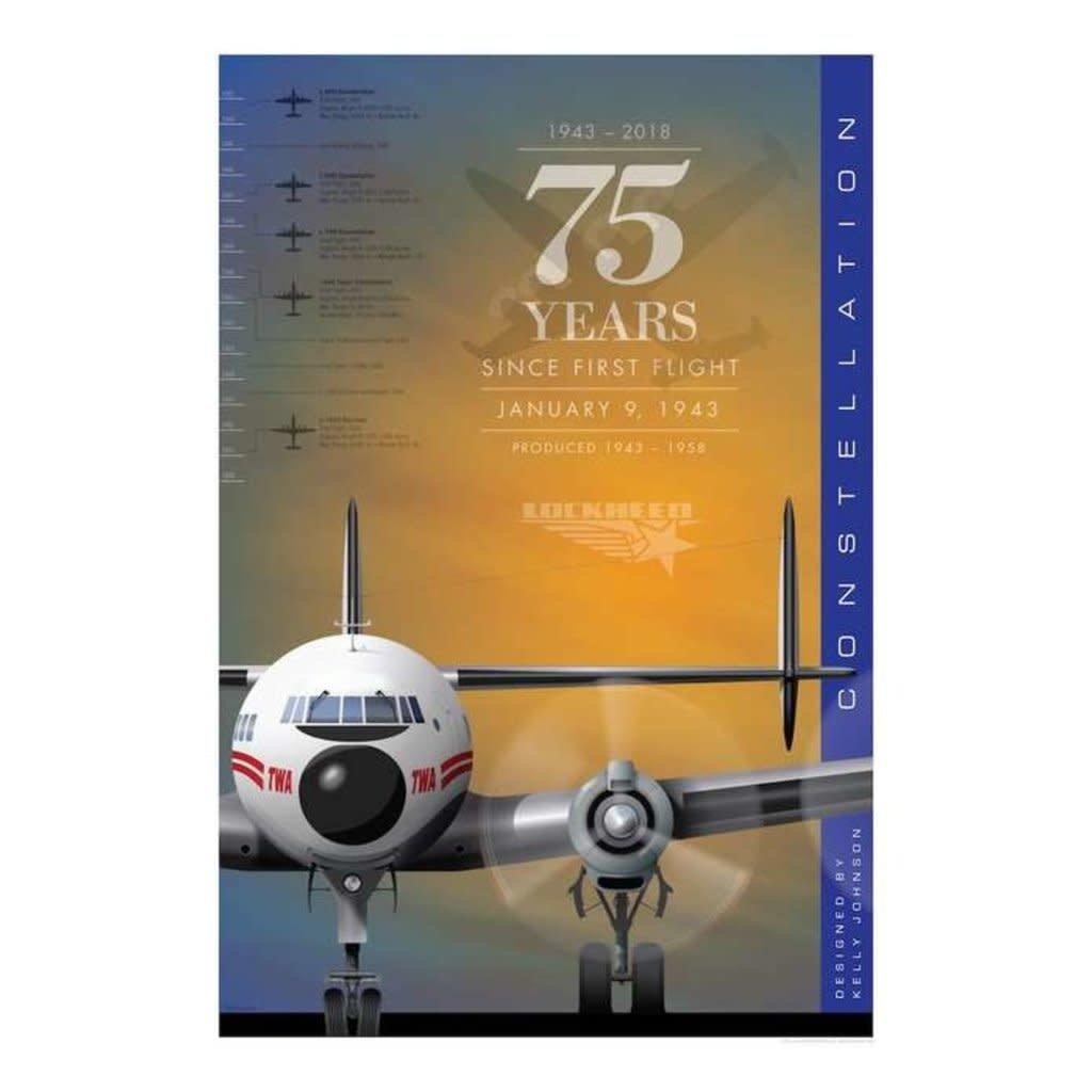 JAA Lockheed Constellation 75 Years Poster 14 X 20