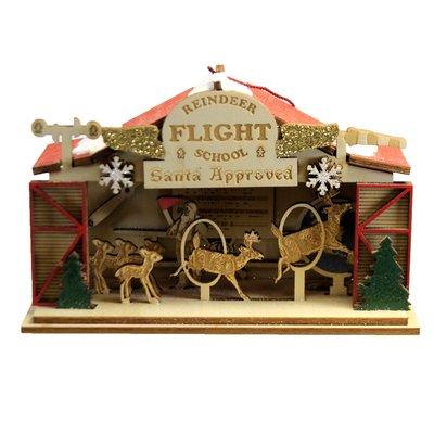 Reindeer Flight School Ornament