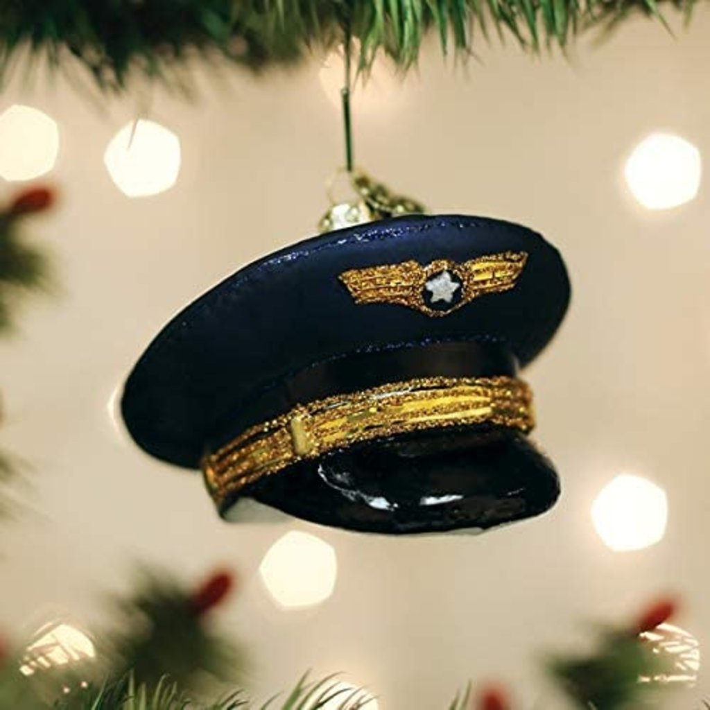 Old World Christmas Pilots Cap Ornament