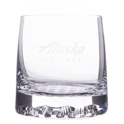AA Alaska Airlines Rock Glass