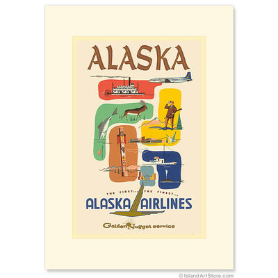 Alaska Airlines: Golden Nugget Greeting Card