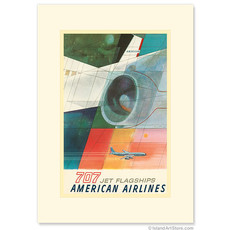 American Airlines: 707 Jet Flagships Greeting Card