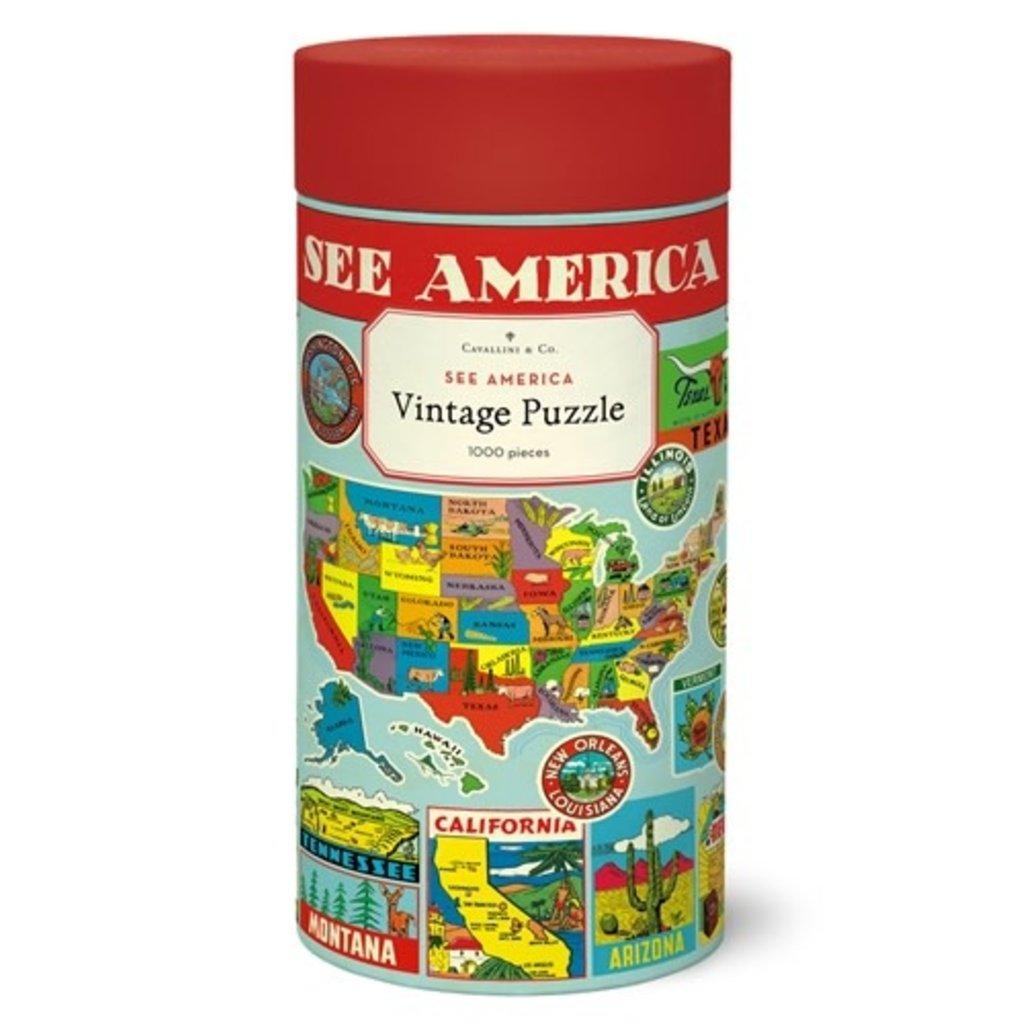 See America  Vintage Puzzle 1,000 Piece