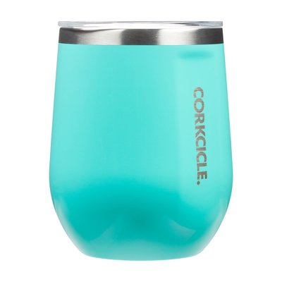 Gloss Turquoise 12 oz Corkcicle Stemless Cup