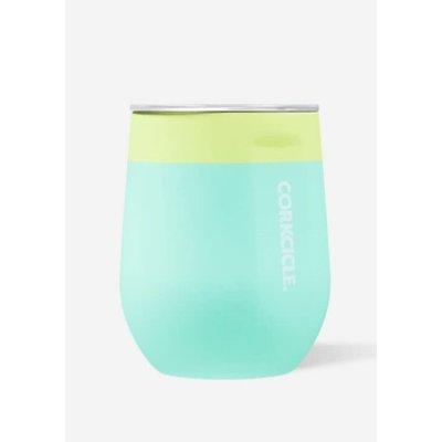 Limeade  ColorBlock 12 oz Corkcicle Stemless Cup