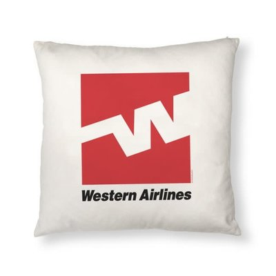 Western Logo Pillow Cover