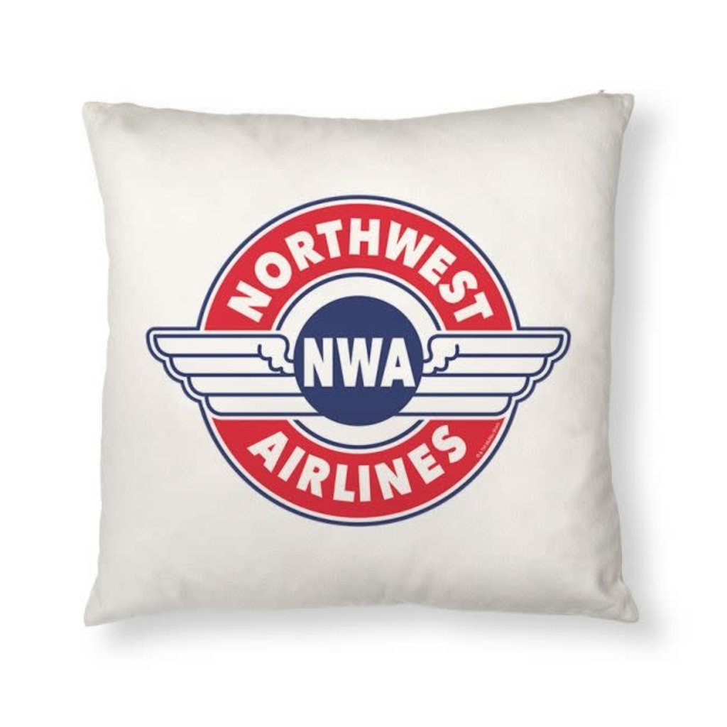 Northwest Airlines Retro Pillow Cover