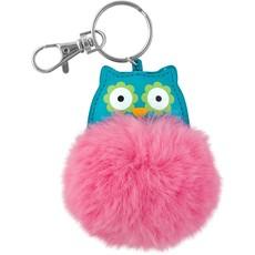 Owl Pom Pom Critter Luggage/Key Chain