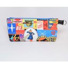 KM Vintage Travel Zipper Wristlet