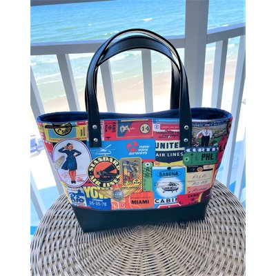 KM Vintage Travel Tote Bag