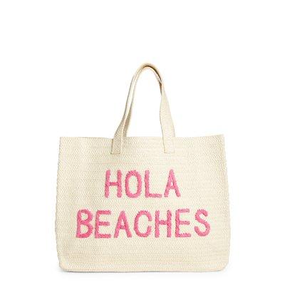 """BTB Beach Bag """"Hola Beaches"""" - Fucshia"""