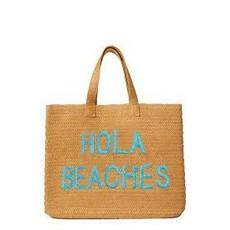 """BTB Beach Bag """"Hola Beaches"""" - Turquoise"""