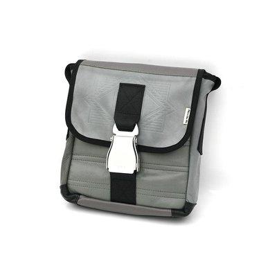 Alaska Airlines Boeing 737 Mini Messenger Bag  recyld Leather