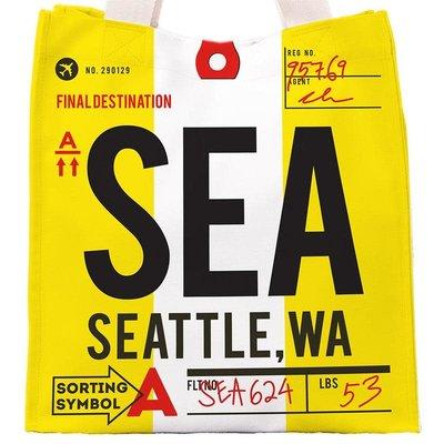 SEA Baggage Tag Bag-Yellow