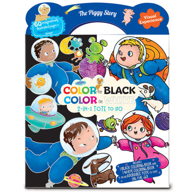 TPS- Color on Black, Color on White 2-in-1 Tote To Go- Space Adventure