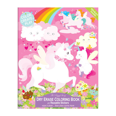 TPS- Dry Erase Coloring Book- Unicorn Fantasy