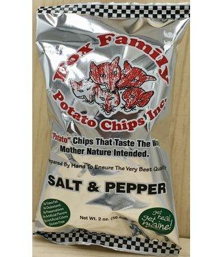 Fox Family Salt and Pepper Potato Chips 1.8oz bag