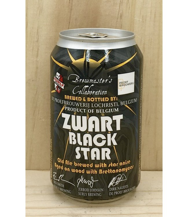De Proef Zwart Black Star 12oz can 4pk