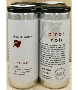 Anchor & Hope 'Nico & Laura' Pinot Noir 250ml can 4pk