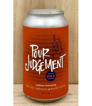 Grey Sail Pour Judgement Pils 12oz can 6pk