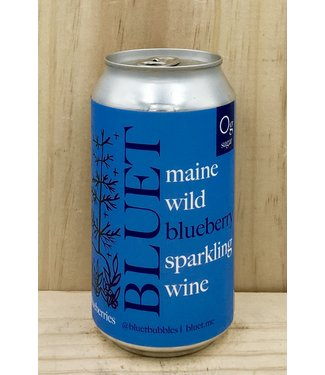 Bluet Maine Blueberry sparkling wine 12oz can
