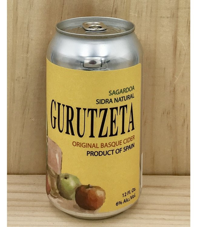 Gurutzeta Sagardoa Basque Cider 12oz can 4pk